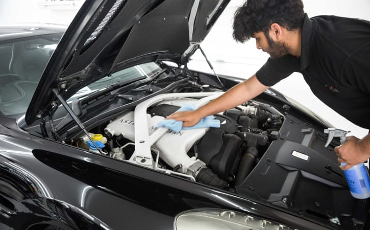 Aston-Martin-Engine-Bay-GVE-London-SUPERCAR-MAINTENANCE-&-WASH-SERVICES