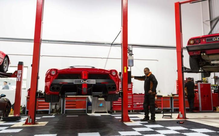 La-Ferrari-Servicing-At-GVE-London