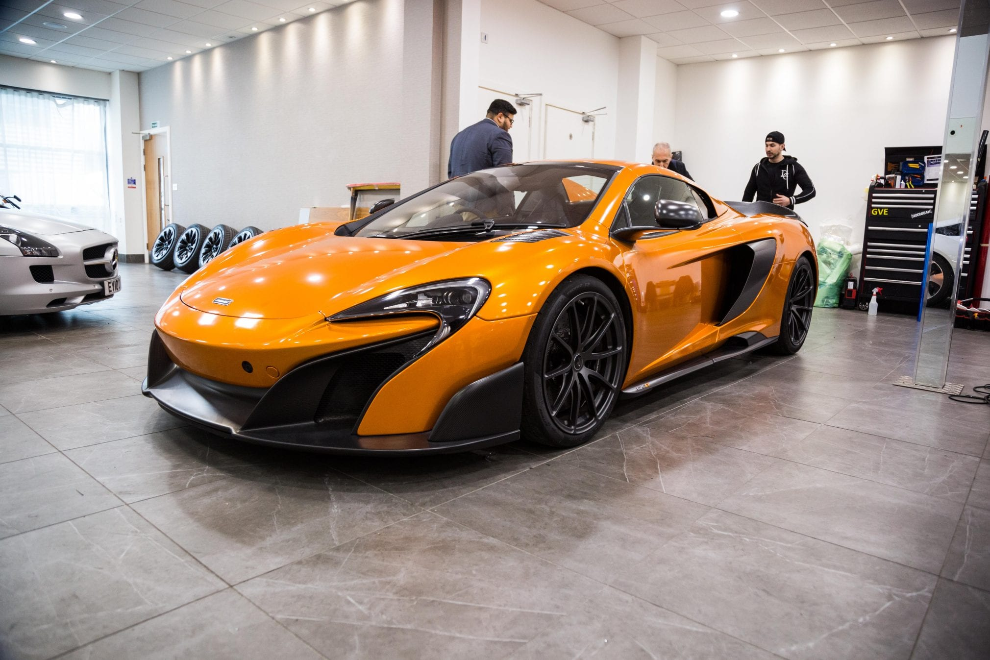 Burnt Orange McLaren 675 LT Vinyl Wrap GVE Customs London