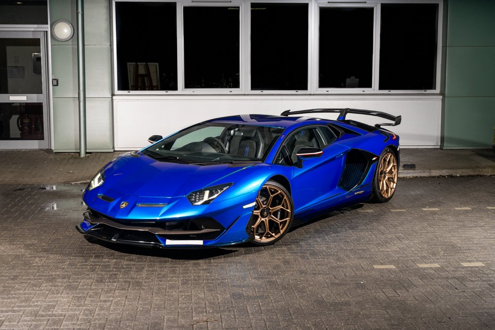 Blue Lamborghini Aventador SVJ | Largest Supercar Dealership in the UK