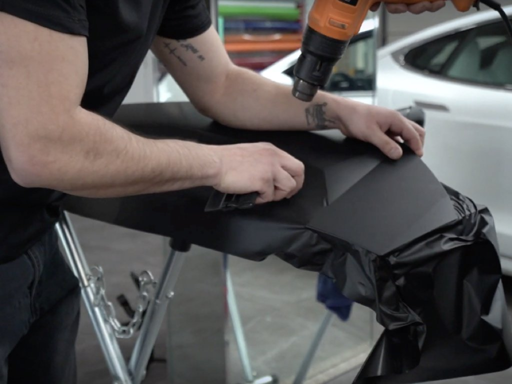 Matte Black Lamborghini Urus Wrap