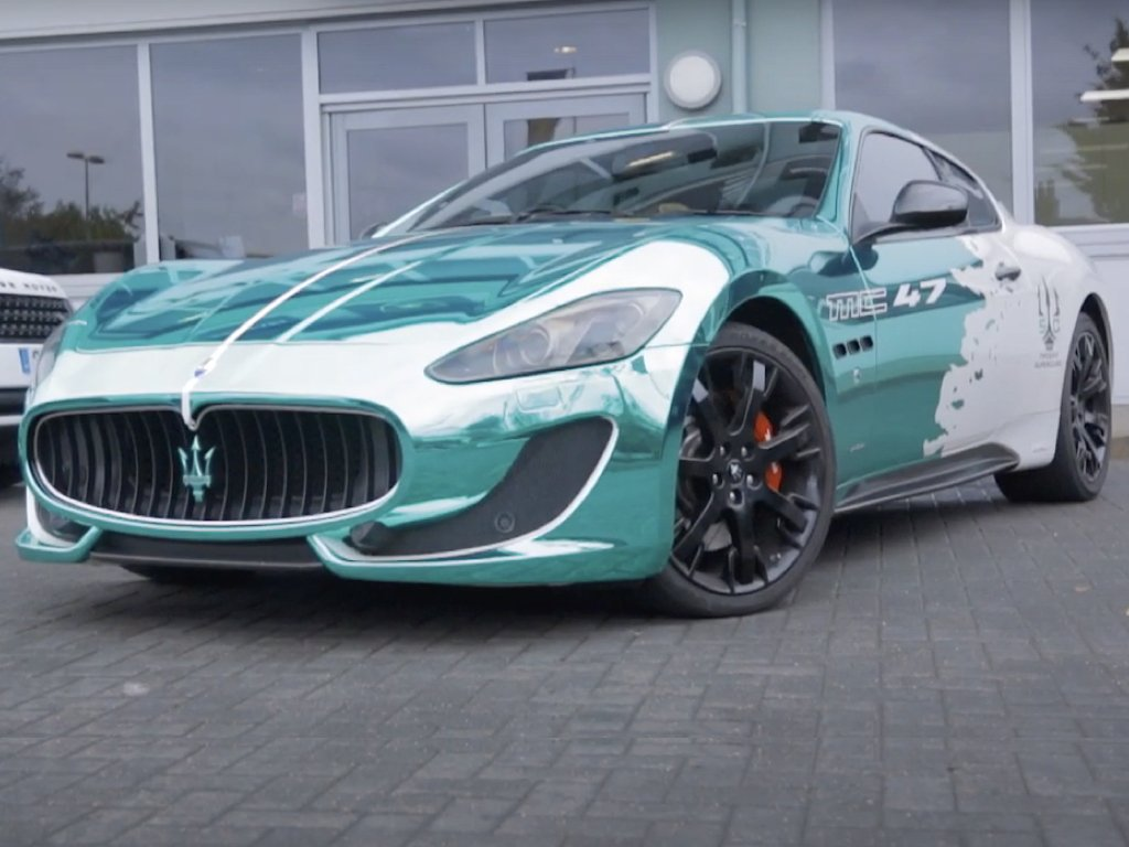 Chrome Turquoise Maserati Wrap | GVE Customs | West London