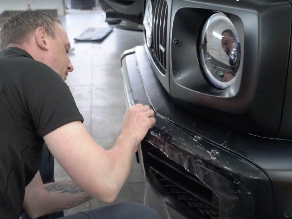 Mercedes G63 AMG Satin Paint Protection Film   GVE Detailing