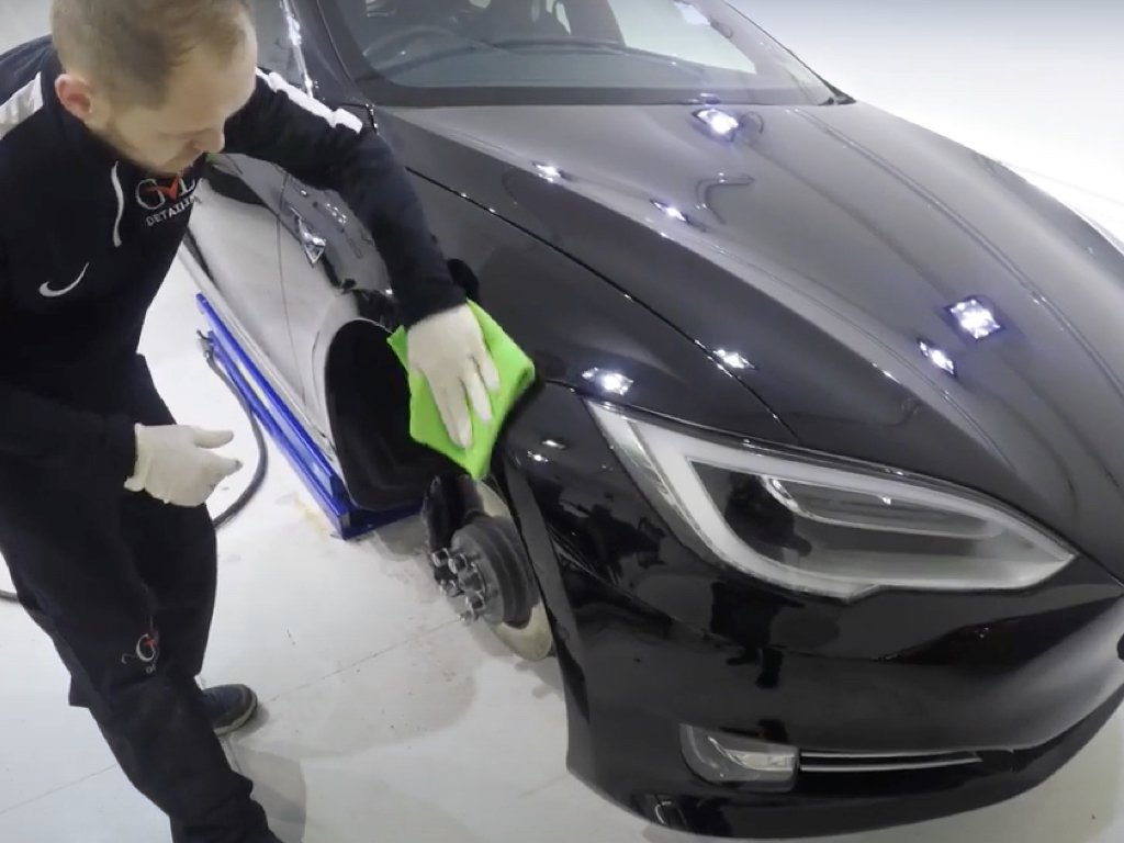 Tesla Model S Polishing & Ceramic Coating | GVE Detailing | West London