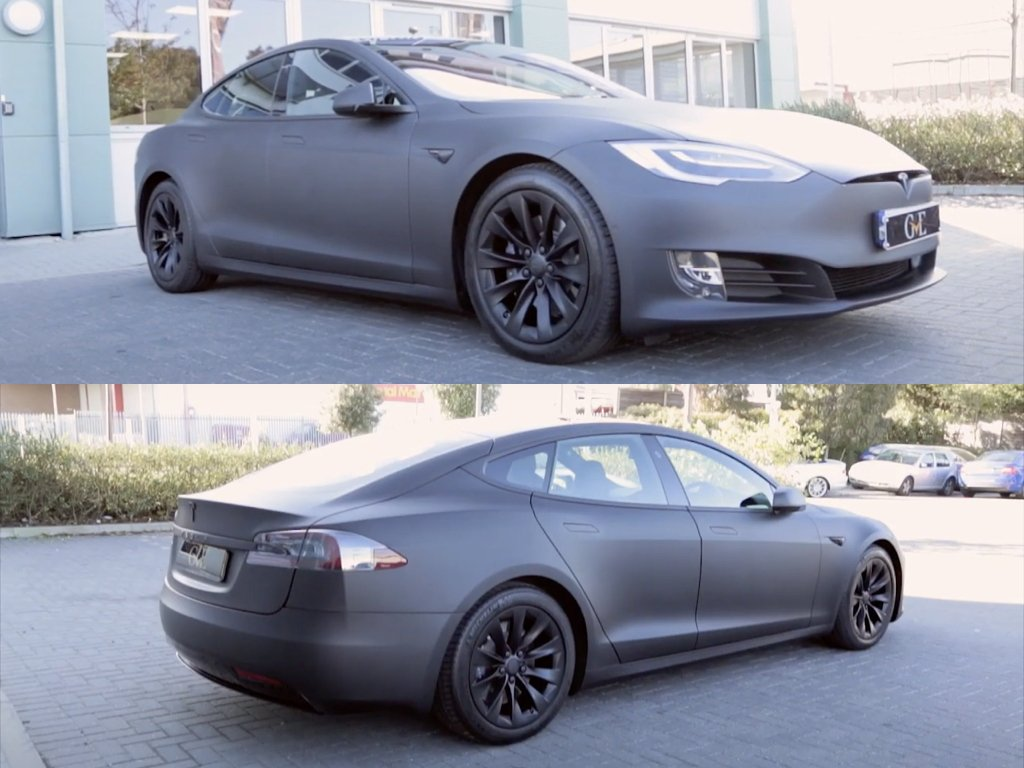 Tesla Model S Stealth Wrap & De-chrome | GVE Customs | West London