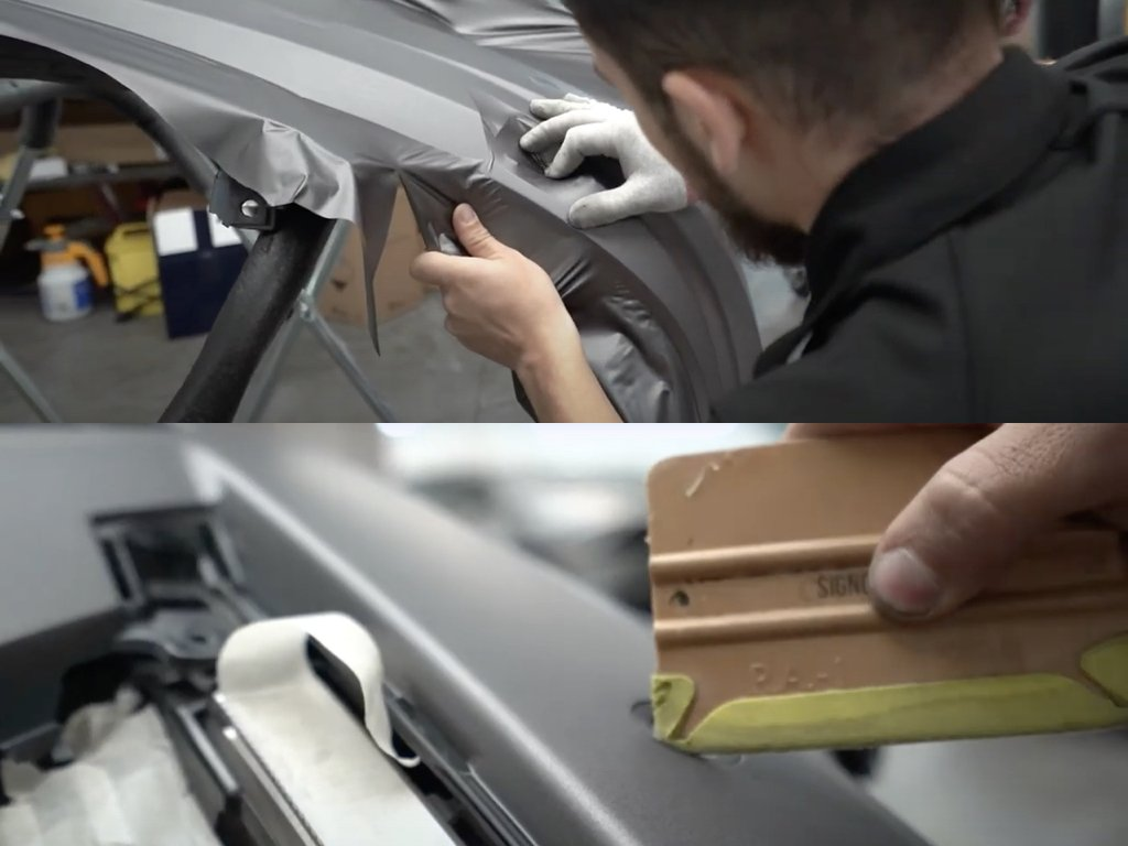 Mercedes C63 AMG Vinyl Wrap | GVE Customs | West London Supercars