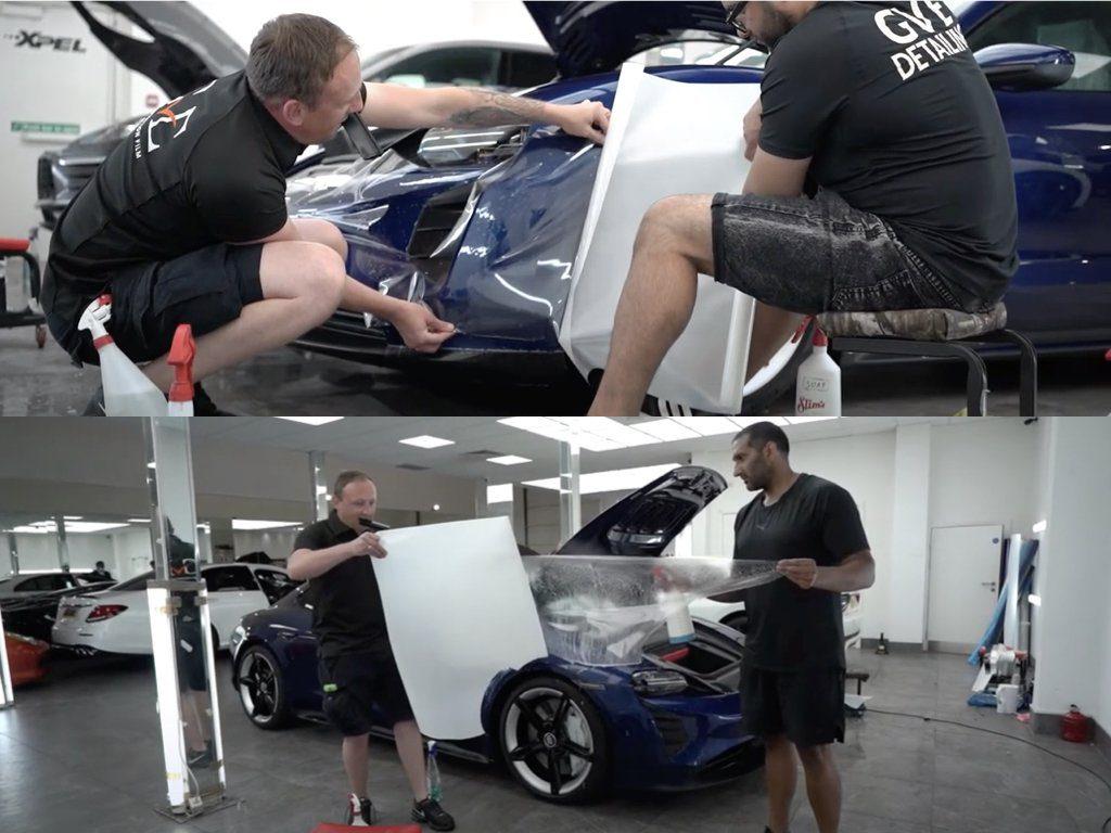 Porsche Taycan XPEL Paint Protection Film | GVE Detailing | West London