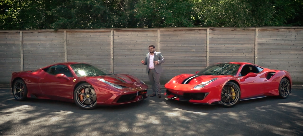 Ferrari 458 Speciale Vs Ferrari 488 Pista | Supercars in West London