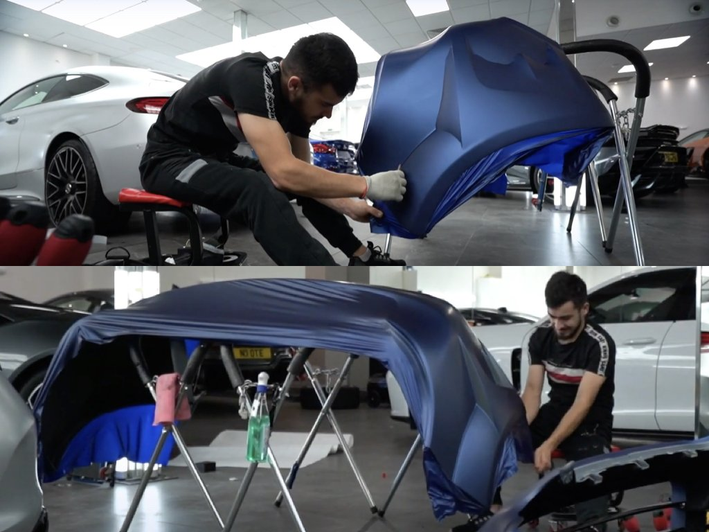 Porsche Cayenne Vinyl Wrap & Body Kit Installation   GVE Customs