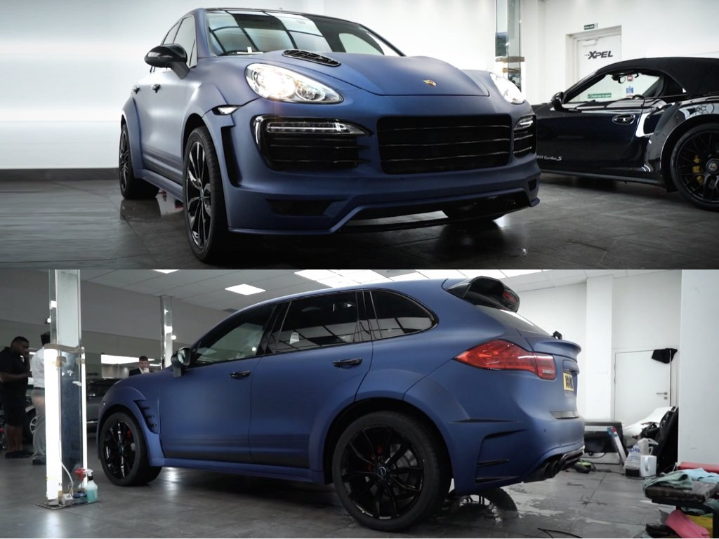 Porsche Cayenne Vinyl Wrap & Body Kit Installation | GVE Customs