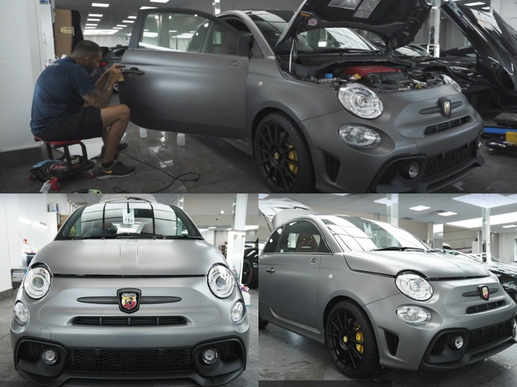 Brand New Abarth 595 Satin PPF | West London Paint Protection Film